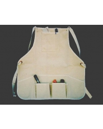 20-05-0001 Ruffian Natural Canvas Bib Apron